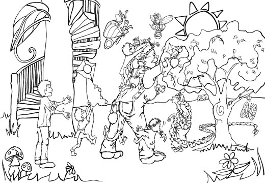 Coloring page from Greetings